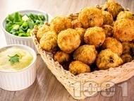 Пържени вегетариански кюфтета от ориз и гъби